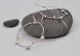 Sprout Hoop Earrings in Recycled Sterling Silver