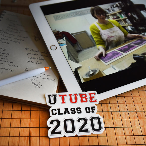 UTube Class of 2020 Indoor Outdoor Vinyl Sticker