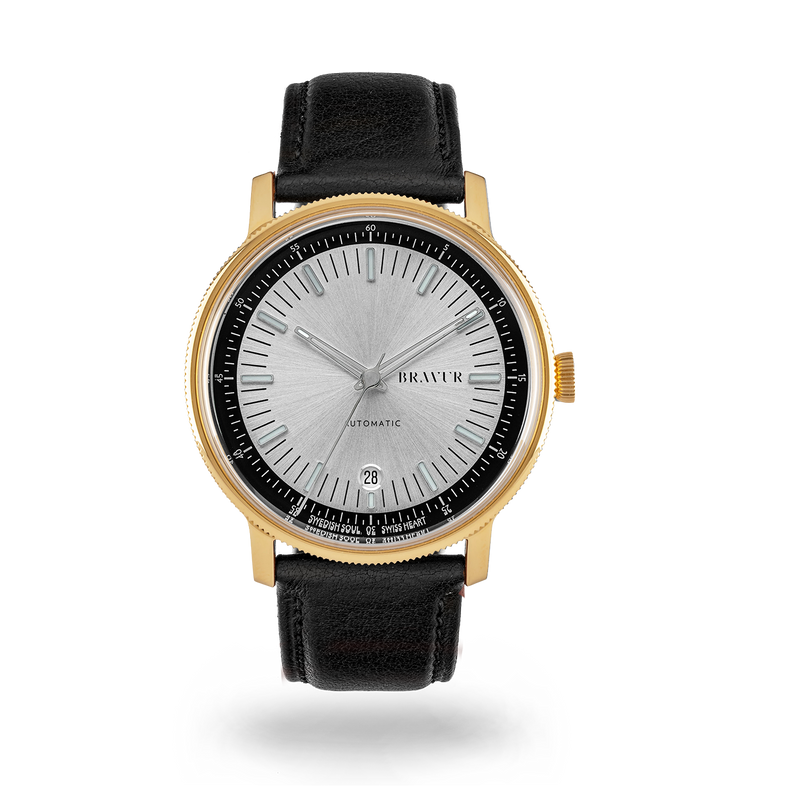 Sample - BW003 Gold PVD - Silver dial