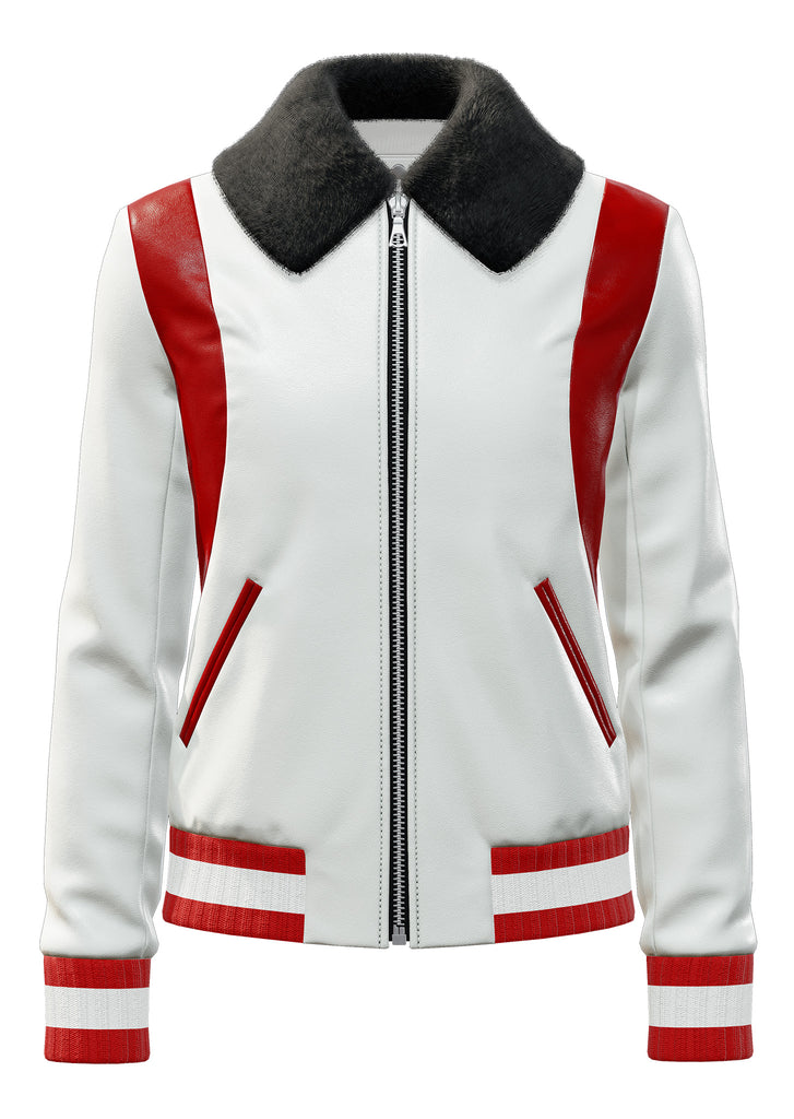 "Classic Lambskin in White and Red <a class=""price-for-collection"">$1450</a>"