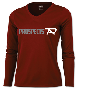 BAW Ladies Long Sleeve Cardinal T-Shirt