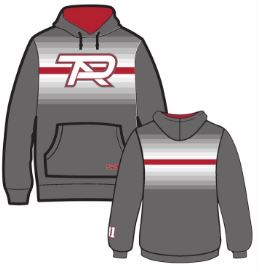 Gray S2N PTA Dye Sublimated Fade Hoodie with Number on Sleeve