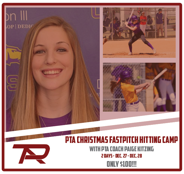 PTA Christmas Fastpitch Hitting Camp - 2 Day Camp - Dec. 27-28 - $100