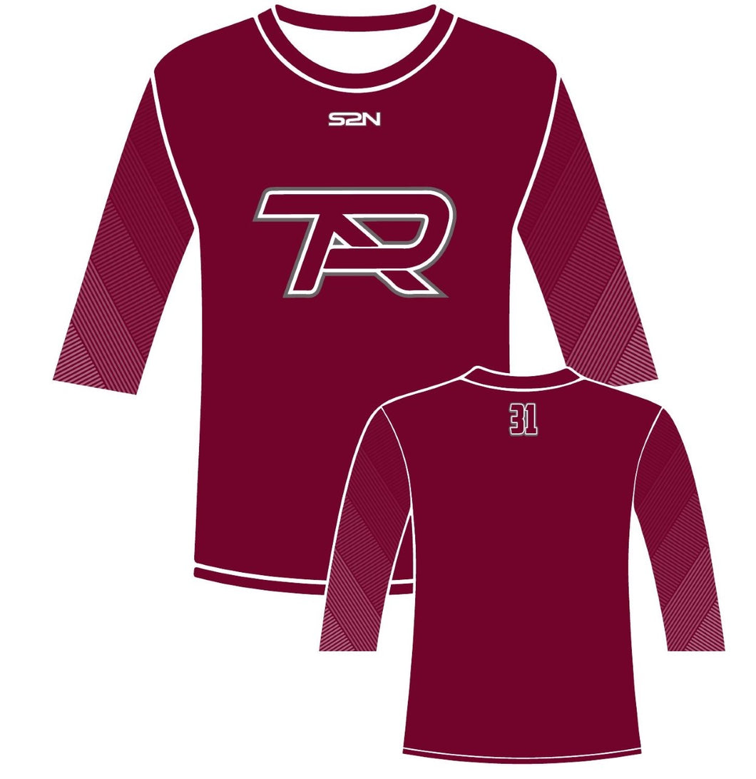S2N PTA 3/4 Sleeve Compression Shirt with Number