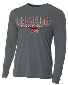 Gray S2N Custom Long Sleeve T-Shirt with Name and Number