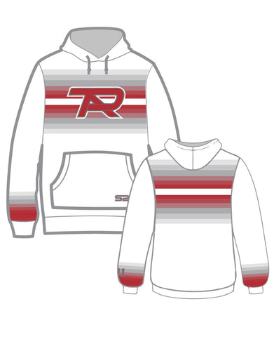White S2N PTA Dye Sublimated Fade Hoodie with Number on Sleeve