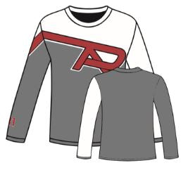 White/Gray S2N PTA Logo Long Sleeve with Number