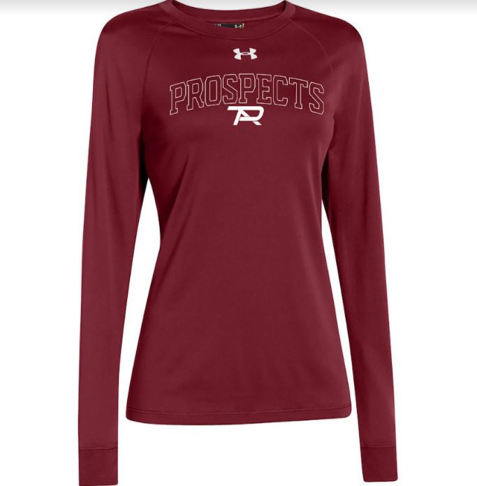 2021 Under Armour Ladies Locker Long Sleeve - Cardinal