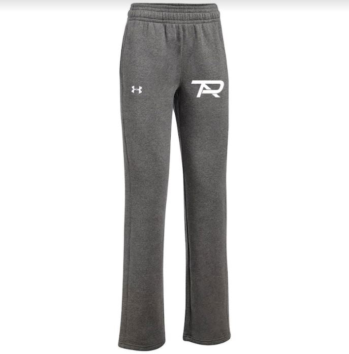2021 Under Armour Ladies Hustle Fleece Pants - Carbon