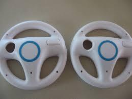 2 Pack Lot Twin Racing Steering Driving Wheel for Nintendo Wii Mario Kart Video Game Mariokart Videogame