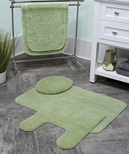 "Maples Rugs Bathroom Colorsoft 20"" x 21.5"" Non Slip Washable Contour Toilet Rug [Made in USA] Soft & Quick Dry for Bath Floor Chocolate Nib"