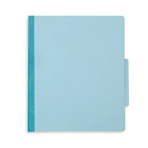 10 Blue Classification Folders- 1 Divider-2'' Tyvek expansions- Durable 2 Prongs Designed to Organize Standard Medical Files, Law Client Files, Office Reports– Letter Size, Blue, 10 Pack