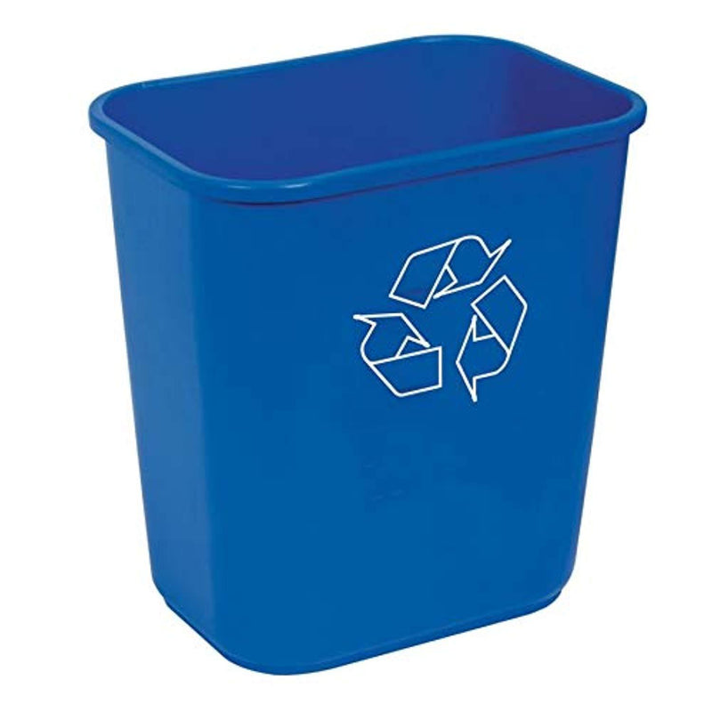 Highmark Office Depot Recycling Bin, 3.25 Gallons, Blue, WB0197