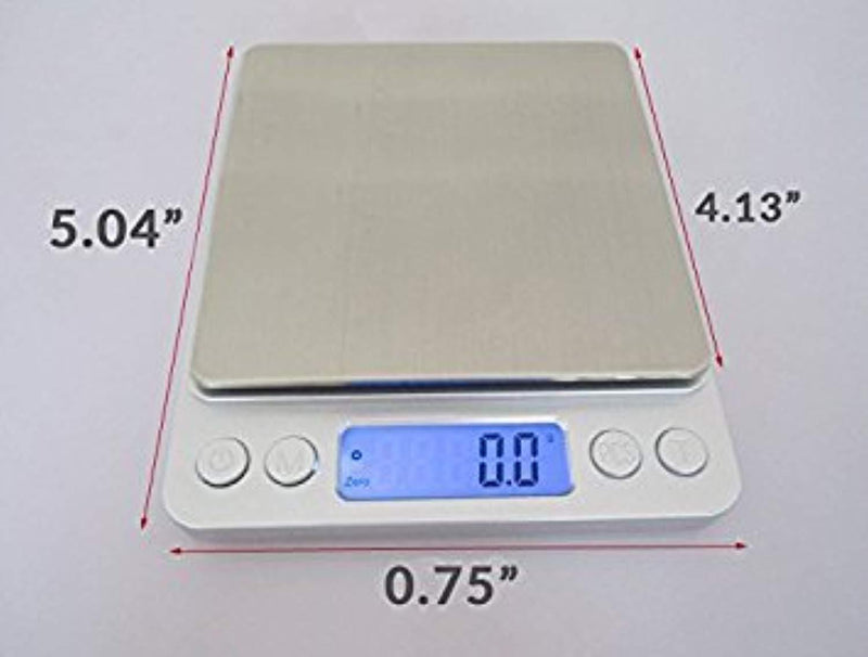 Smart Digital Scale | 3000g/0.1g Accurate Multipurpose Electronic Kitchen Scale with Hefty ABS Stainless Steel for Food Spice Herbs | Smart Auto Power and Precise 105.8oz /0.003oz Measurement | 917