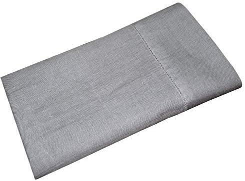 COTTON CRAFT 100% Linen Hemstitch Table Cloth - Size 60x108 Charcoal - Hand Crafted and Hand Stitched Table Cloth with Hemstitch detailing.