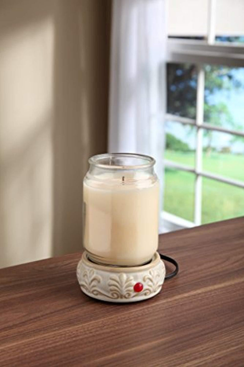 Hosley's Cream Ceramic Fragrance Candle Wax Warmer. Ideal for Spa and Aromatherapy. Use with HOSLEY Brand Wax Melts / Cubes, Essential Oils and Fragrance Oils O2