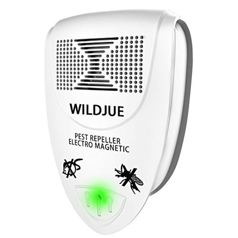 WILDJUE Ultrasonic Pest Repeller Pest Control [6-Pack] Spider Repellent, Electronic Plug in Pest Repeller- Repels Mice, Roaches,Spiders,Other Insects (white1)