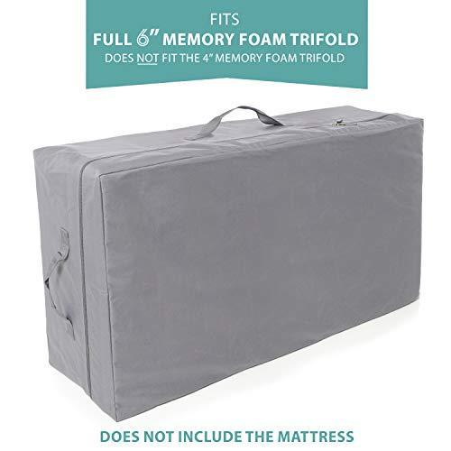 Milliard 6-Inch Memory Foam Tri-fold Mattress with Ultra Soft Removable Cover with Non-Slip Bottom - Full