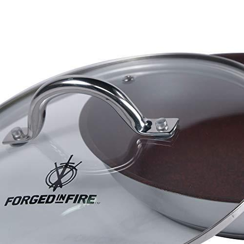HISTORY - Forged in Fire – 10-Inch Tempered Glass Lid with Stainless Steel Trim, Thermal Technology, and Vent Control