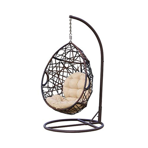 Christopher Knight Home 239197 | Outdoor Wicker Tear Drop Hanging Chair | in Brown
