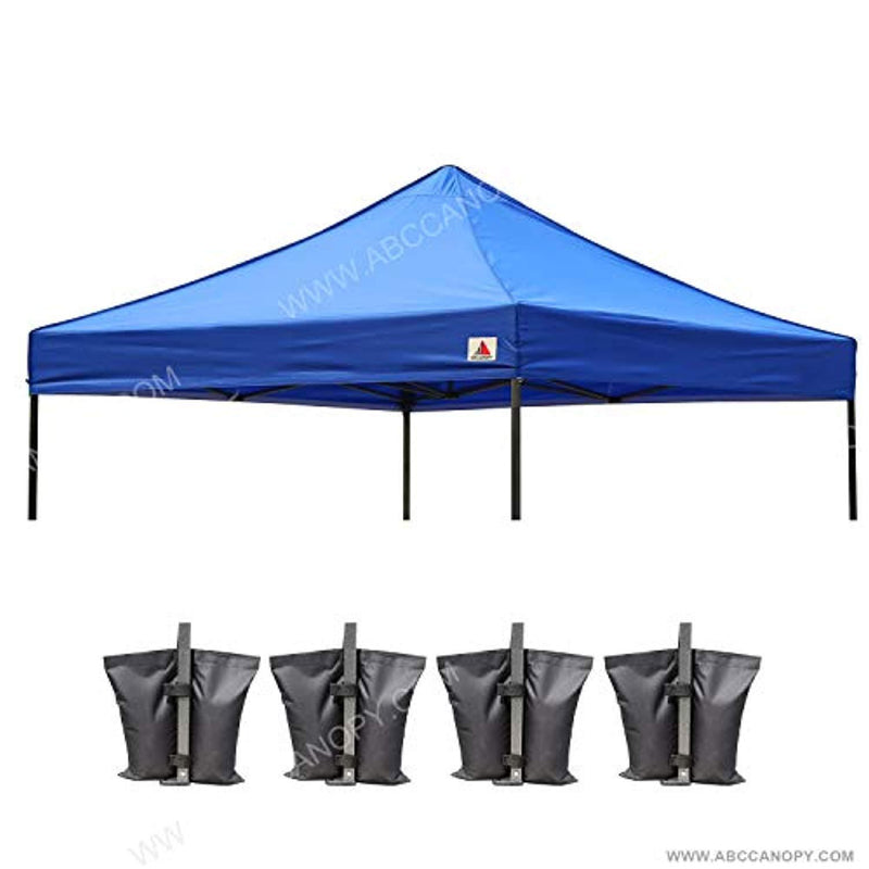 ABCCANOPY 10×10 Canopy Tent Pop Up Beach Canopy Portable Shade Canopy Instant Folding with Wheeled Carry Bag, White (SC Canopy top Royal Blue)