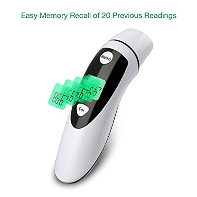 Baby Ear and Forahead Themometer,Firhealth Medical Infrared Digital Dual Mode Thermometer For Baby Infant Toddler and Adults-Temperature and Fever Health Alert Clinical Data-FDA and CE Approved