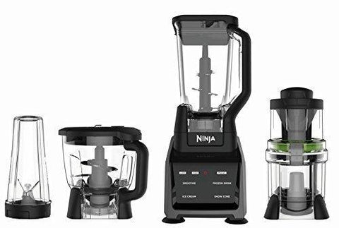 Ninja Blender/Food Processor with Intelli-Sense Touchscreen, 1200-Watt Smart Sensor Base, Spiralizer, 72oz Pitcher, 64oz Bowl, and 24oz Cup (CT682SP)