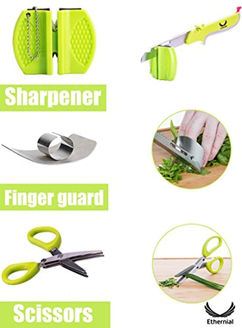 Kitchen Shears Scissors Food Chopper Clever Fruit Cutter Knives with Built-in Cutting Board