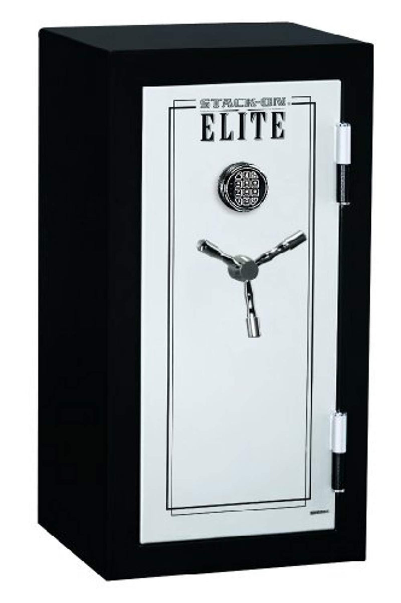 Stack-On E-040-SB-E Elite Junior Executive Fire Safe with Electronic Lock, 3 shelves, Matte Black/Silver