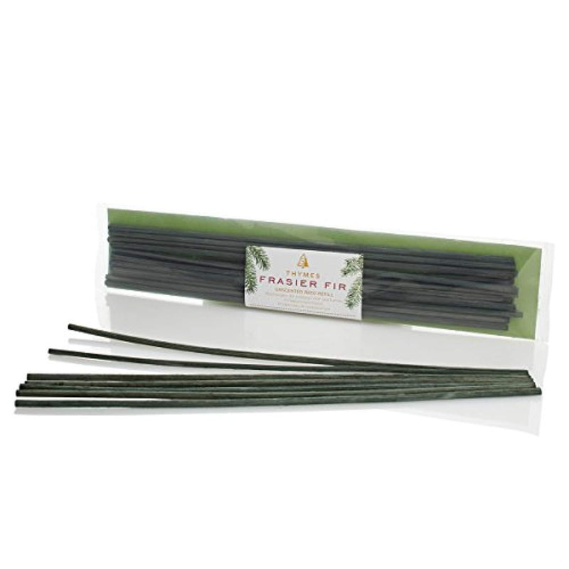 Thymes - Frasier Fir Green Reed Refill - 14 Reeds - Green Coloring
