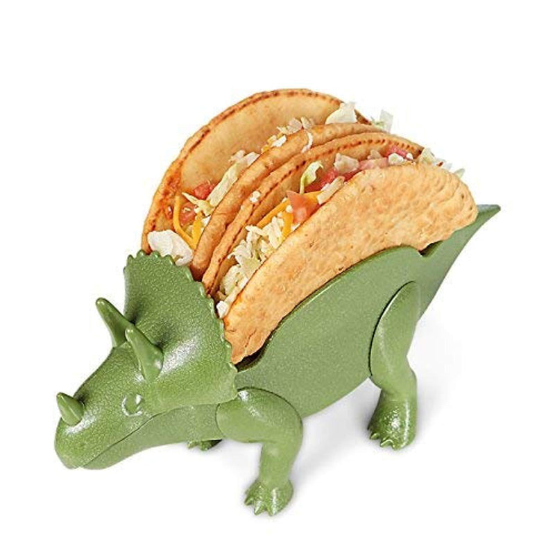 2-Pack Triceratops Taco Holder, Dinosaur Statue Taco Stands Shell Holder, Tricerataco Taco Holder, Dinosaur Taco Holder for Kids Hard Taco Holders for Taco Tuesday Birthday Party & Dino Taco Party by California Home Goods