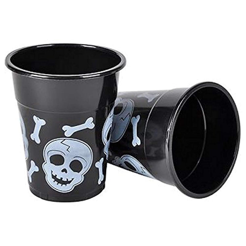 "50 ""Happy Halloween"" Disposable cups, Party Supplies Tableware, Blake and White, Grate party favor, By 4E's Novelty,"