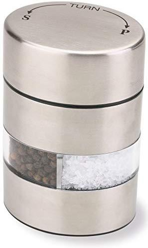 "Olde Thompson 4"" Stainless Steel Pepper Mill and Salt Mill 2-in-1 Combo - 5080-00"