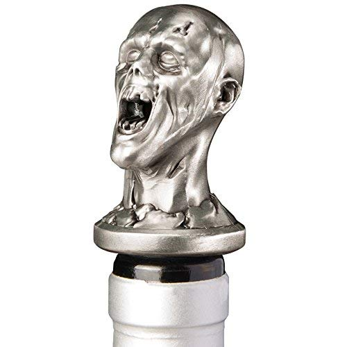 TenTen Labs Wine Aerator Pourer (2-pack) - Decanter Premium Aerating Spout - Gift Box IncludedStainless Steel Zombie Wine Aerator Pourer - Deluxe Decanter Spout for Robust Red and White Wine - Pour Amore Bottle Pourer/Stopper & Air Diffuser