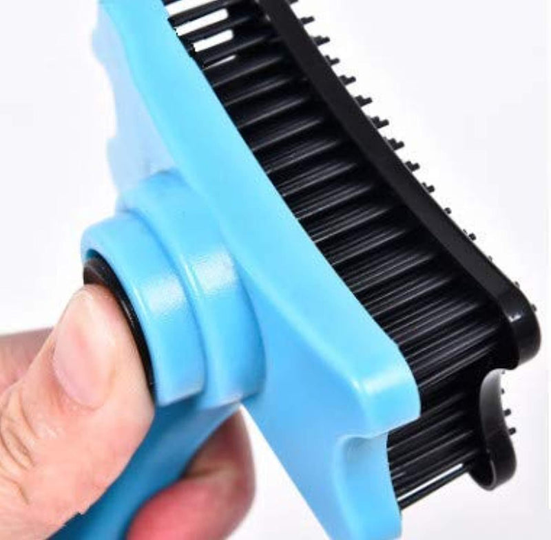 Cat Brush & Dog Brush for Short and Medium Hair, Soft Reinforced Boar Bristle to Distribute Natural Oils, Condition the Coat and to Add Gloss and Shine to it, Pet Grooming Naturally, Brown 4.25""