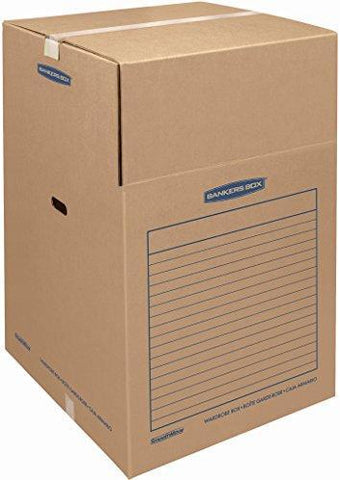 Bankers Box SmoothMove Wardrobe Moving Boxes, Tall, 24 x 24 x 40 Inches, 1 Pack (7711002)