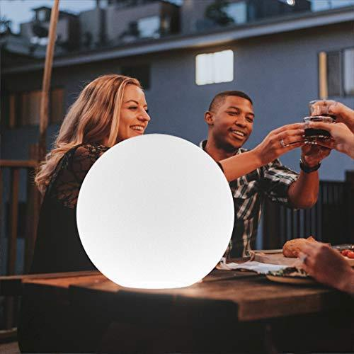 LED Light Ball LOFTEK: 16-inch RGB Colors Light Sphere with Remote Control, Cordless Floating Pool Lights, IP68 Waterproof and Rechargeable Battery, Sensory Toys for Kids, Home, Garden, Party Decor