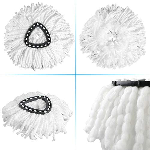 Replacement Mop Head Microfiber Spin Mop Refill Clean Pad Mop Head Refills Easy Cleaning Mop Head Replacement (2 Pack) by FAMEBIRD