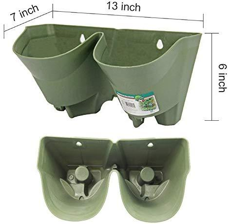 Worth Watering Indoor Outdoor Vertical Wall Hangers with Pots Included Wall Plant Hangers Each Wall Mounted Hanging Pot has 3 Pockets 36 Total Pockets