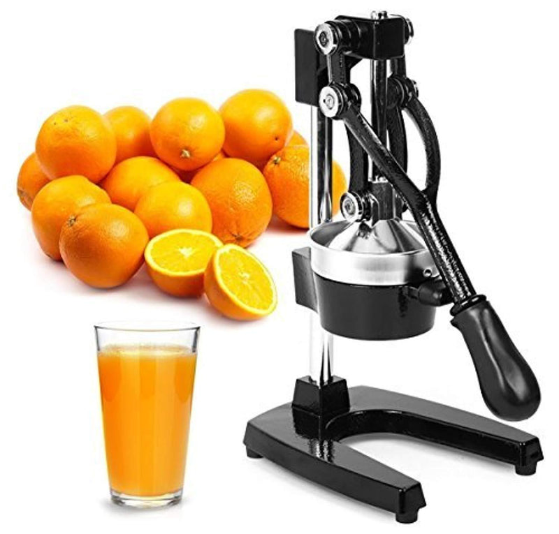 Top Rated Zulay Commercial Metal Orange Lemon Lime Squeezer - Premium Quality Heavy Duty Manual Citrus Press Stand Juicer