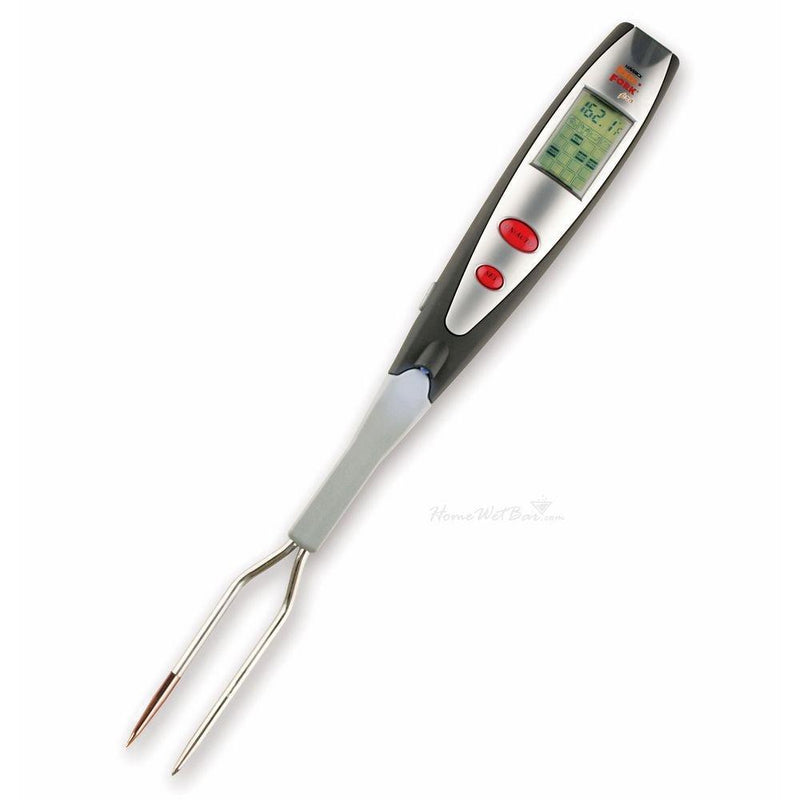 HomeWetBar Instant-Read Pro LCD Thermometer Grill Fork with Light