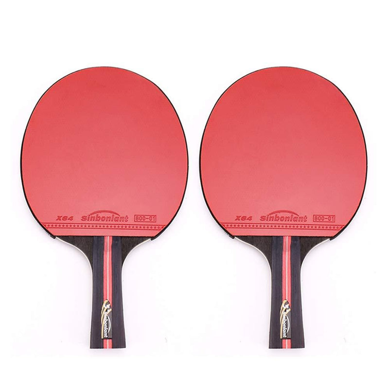 SSHHI 5-Star Table Tennis Bats,2 Pcs Ping Pong Paddle,Indoor or Outdoor Game, Solid/As Shown/A