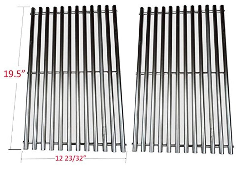 GS7528 Stainless Steel Cooking Grates Replacement For Weber Genesis E and S series gas grills Models, Set of 2