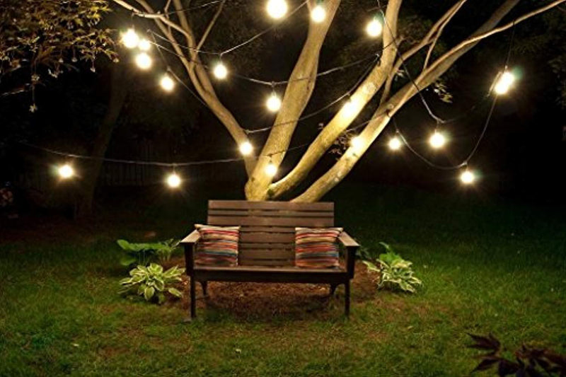 Outdoor String Lights 25 Feet Indoor Globe String Lights for Bedroom Party Patio Lights with 25 Bulbs by Noza Tec