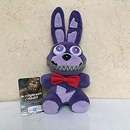 "TOP Satisfied 7"" Five Nights at Freddy's FNAF 15-18cm TV Movie Horror Game Plush Dolls Horror Game Plushie Toy Lovely Gift (Bonnie)"