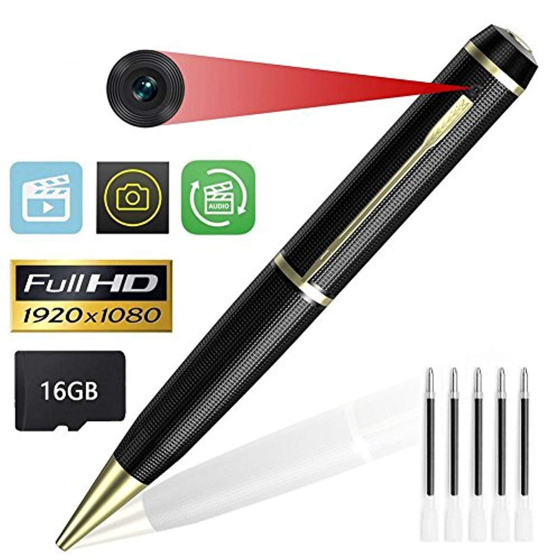 KIMUVIN Spy Pen Camera,16GB 1080P Full HD Mini Hidden Camera Pen with Video and Photo Recorder Dvr (2018)
