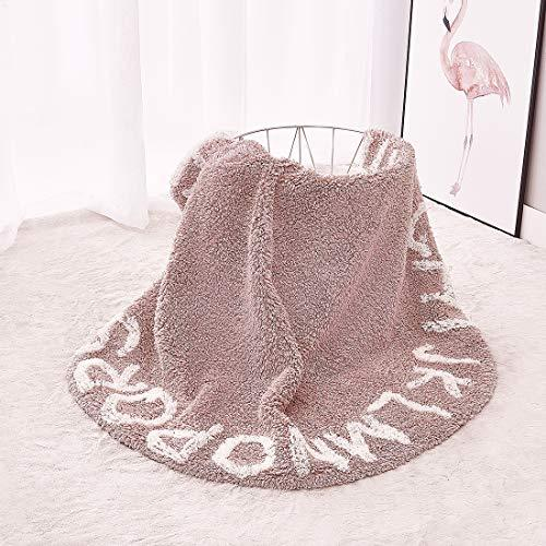 PAGISOFE Super Soft Cotton Luxury Plush Baby Crawling Rugs Kids Play Mat Educational ABC Alphabet Area Rugs Baby Shower Gift Kids Teepee Tent Game Play House Round 1.2 meters 47.24 inch Diameter(Pink)
