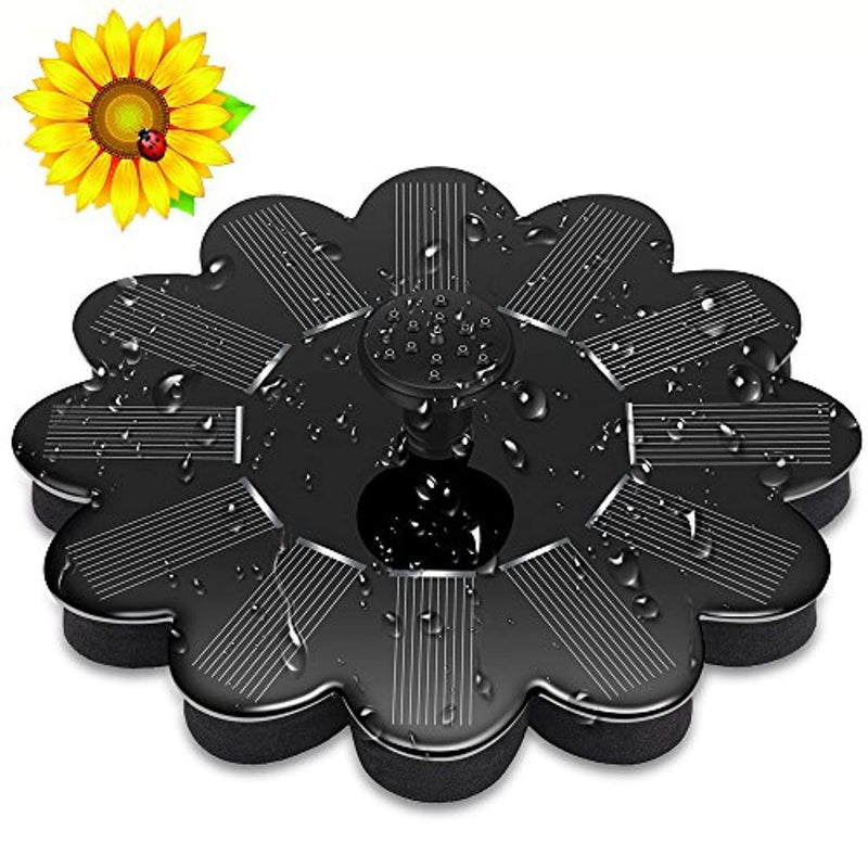 Tamoria Solar Birdbath Fountain Pump, Sunflower Design Freestanding Floating Solar Bird Bath Fountain 1.2W Solar Panel Kit Submersible Water Pump for Pond, Outdoor Garden