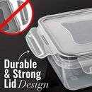 Food Storage Containers with Lids - Food Containers with Lids Plastic Containers with Lids (25 Ounce) - Leak Proof Lunch Containers Plastic Storage Containers with Lids - BPA-Free Meal Prep Containers