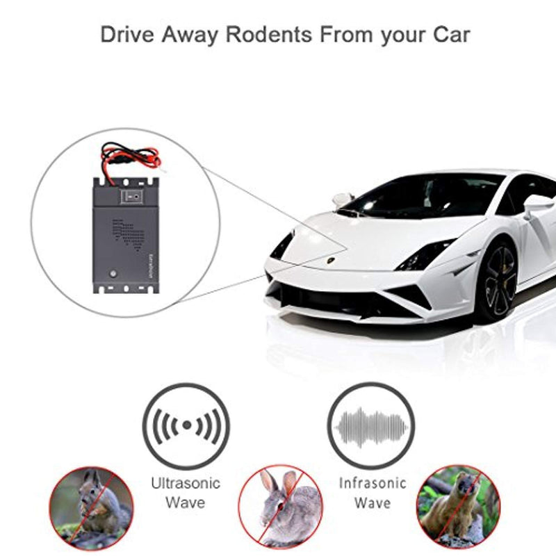 ExtraDisist Rodent Repellent for Car,Under Hood Animal Repeller,Rid A Rat for Car Engines,Mouse Deterrent Ultrasonic Car,Underhood Rodent Repeller (car Rat Repellent)